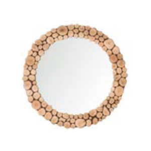 specchio grande Wood